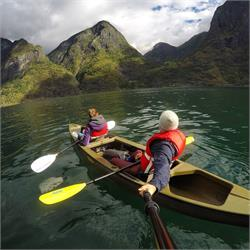 Kayaking on the  Norwegian  Fjords