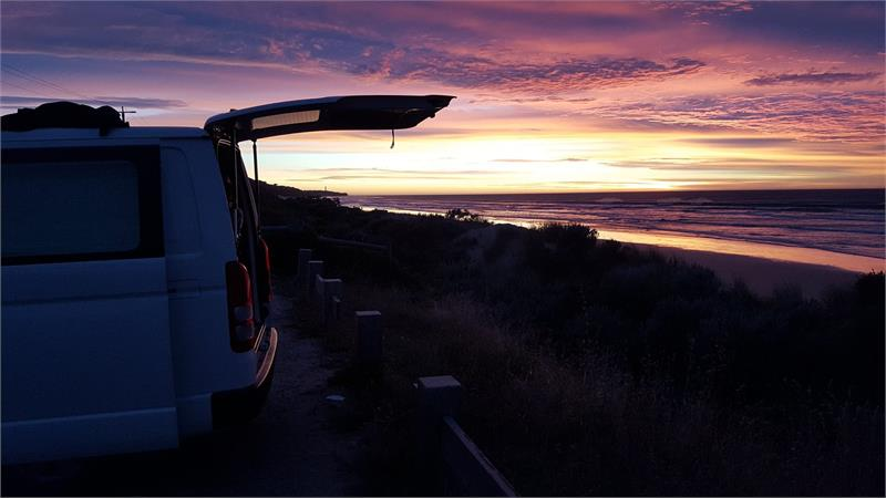 Apr 2020 - The campervan at sunset