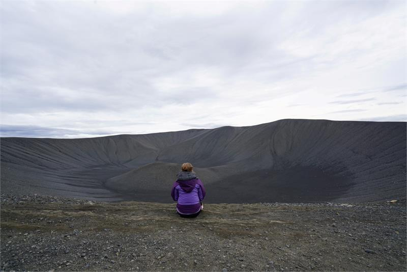 May 2017 - On top of  Hverfjall  Volcano