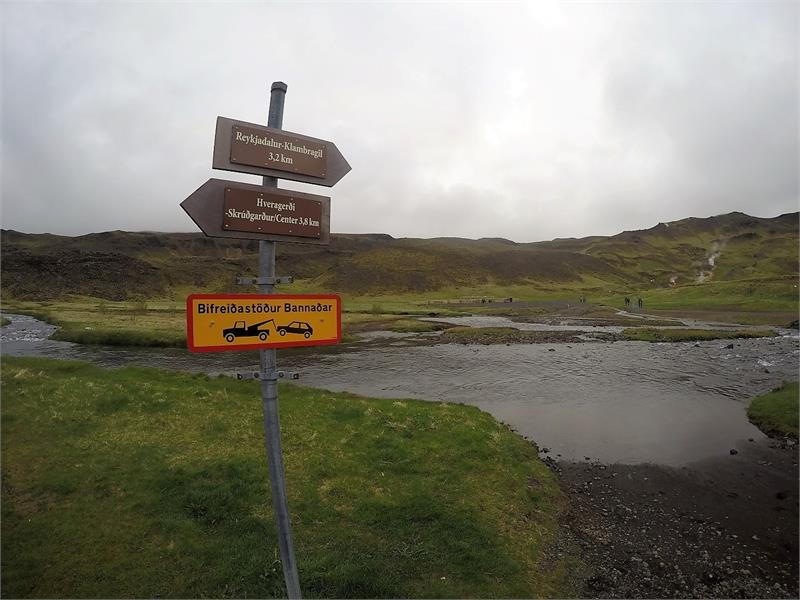 May 2017 - To get to  Reykjadalur its a decent hike