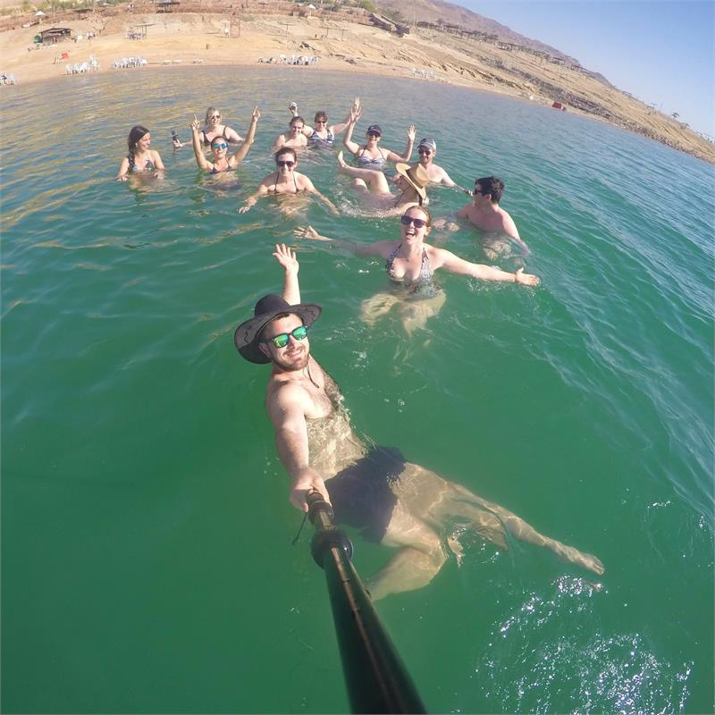 Apr 2020 - Floating in the  Dead  Sea with  Topdeck squad
