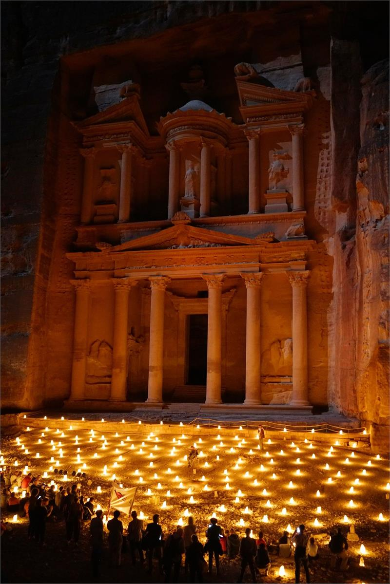 Apr 2020 - Petra lit up