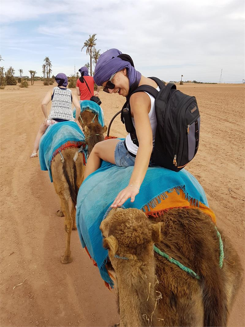Apr 2020 - Dovile patting my camel