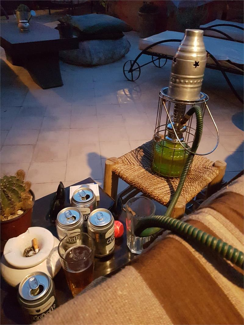 Apr 2020 - Our riad had free shisha